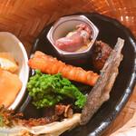 日本料理 つるま - 旬の食材盛り合わせ