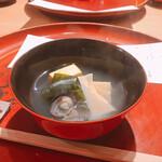 日本料理 つるま - 筍鳴門わかめシジミ汁