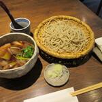 蕎麦小路 さわらび - 料理写真:「鴨汁せいろ」一式
