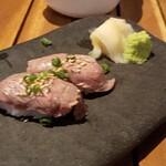 うさぎや - 宮古牛の炙り握り、宮古牛が柔らか~い!!一瞬でなくなるお寿司