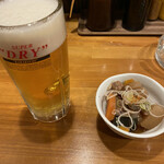 地球食堂 - 生ビールとお通し