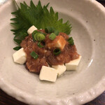 酒・蕎麦 田治 - クリームチーズ酒盗
