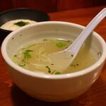 牛たん 藤次郎 - テールスープ