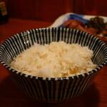 牛たん 藤次郎 - 麦飯