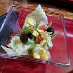 米沢ステーキ&ビストロ 飛行船 - ランチセット(200円) サラダ