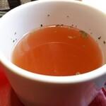 米沢ステーキ&ビストロ 飛行船 - ランチセット(200円) スープ