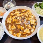 天福分 - 麻婆豆腐定食 850円