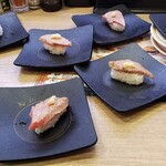かっぱ寿司 - 大トロ炙り大量注文