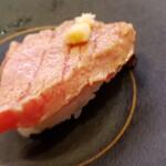 かっぱ寿司 - デキ良し大トロ炙り山わさび