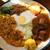 フィッシュ - 料理写真:3種コンボ 1,100円=キーマ、鶏、豆
