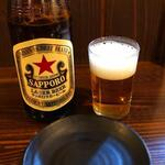 鳥清 - 瓶ビール赤星 \56o