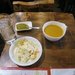 128146672 - 最初にスープとサラダ