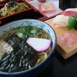 川文 - 茶そば定食(かけ)