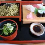 川文 - 茶そば定食(ざる)