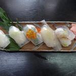 漁火 - セットのいか寿司