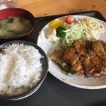 和泉 - 料理写真:豚テキ定食肉ダブル