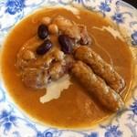 鳥肉と豆の煮物