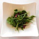 Cielo - 青ジソ風味のカルボナーラ 1000円 のサラダ