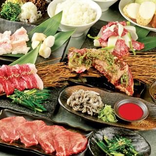 国産牛、国産ホルモンも!30品食べ放題コース2678円!