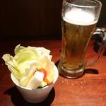 128162109 - お通し&生ビール