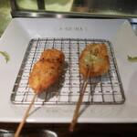 128162112 - 白魚のメカブの湯葉巻き&アピオスと鶏の旨煮