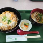 128163999 - 比内地鶏親子丼とミニ稲庭うどんのセット1350円