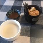 ステーキハウスロデオ - 料理写真:自家製キムチ、クラムチャウダー!