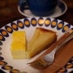 轟 - 洋梨タルトとチーズケーキのハーフ&ハーフ(500円)