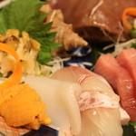海鮮料理 あみたつ - お造り盛り合わせ(拡大)