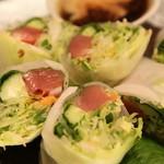 海鮮料理 あみたつ - マグロの生春巻きサラダ