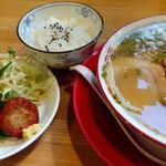 中華そば 三浦 - 青とんがらしそば+おたのしみ定食