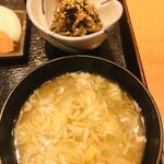 粋・丸新 - 味噌汁と小鉢