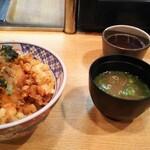てんぷら黒川 - かき揚げ丼セット