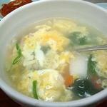 味楽来 - たまごスープ400円也。まずまずの味で○