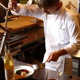 津田シェフによるスペシャリテとパスタ料理