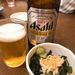 越後屋 - 瓶ビールと470円のお通し!