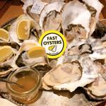 FAST OYSTERS - レモンが乗っているのが五島列島の牡蠣