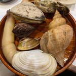 杉むら - 白ミル貝、ツブ貝、ホッキ貝、ハマグリ三重、赤貝