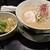 麺屋28 - 鶏とろラーメン(800円)+セットのチャーハン(300円)