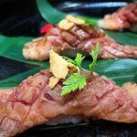 松阪牛焼肉 M - 【サーロイン炙り寿司】柔らかく上品な味わいです