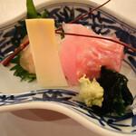 旬采遊膳 あつみ - 金目鯛と伊勢海老刺身