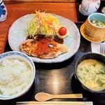 魯はん - 桃豚ポークソテー定食1400円