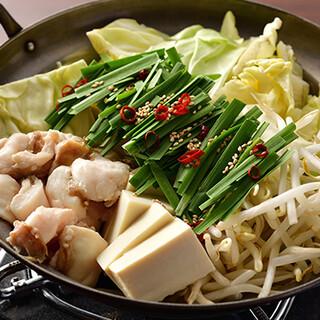 人気の国産もつ鍋や、ご宴会にぴったりの豪華なコースをご提供