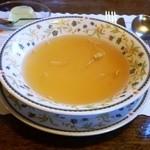 レストラン くるる - ミックスグリルセットのスープ