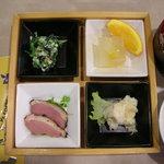 ホテル サニーバレー - 前菜4品と蕎麦