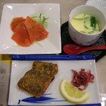 ホテル サニーバレー - サーモン、カレイ、茶碗蒸し