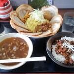 らー麺山之助 - 料理写真:味玉ダブルつけチャーシュー+チャーシュー丼