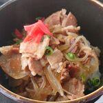 ビーフビレッヂ区界 - セットのミニ豚丼
