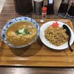 みやこ食堂 - カレーラーメン定食 ¥850