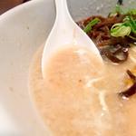 麺屋 九秀 - スープのアップ。